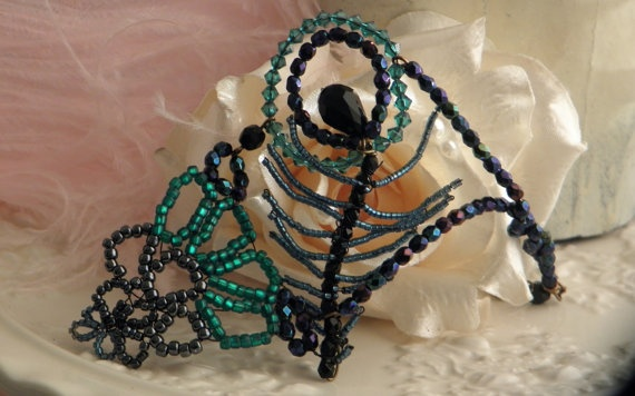 Peacock Cuff by TrudiMay on Etsy, $55.00