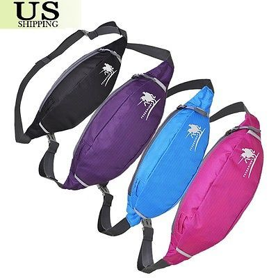 Waterproof Running Bum Bag Waist Pouch Fanny Pack Travel Sport Hiking Belt Zip