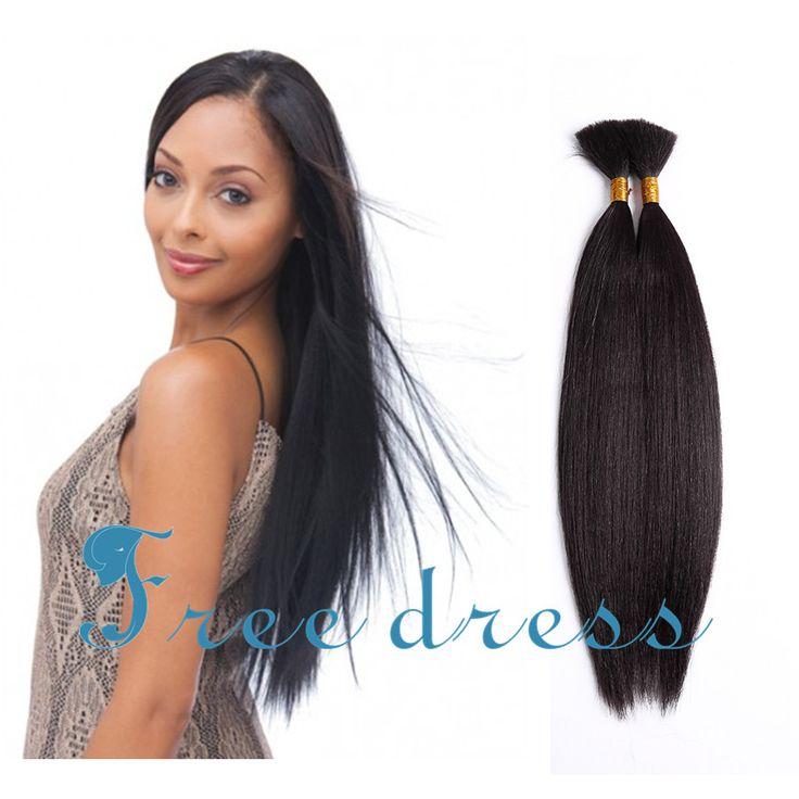 2 pz/pacco Mescolato capelli 16 pollici di Media lunghezza Super Yaki Estensioni Massa Dei Capelli per le donne