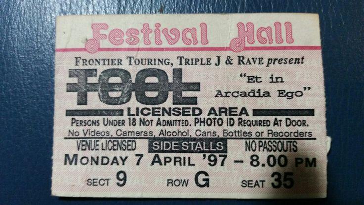 Tool Brisbane 7 April 1997 Festival Hall Amazing Show!!!!