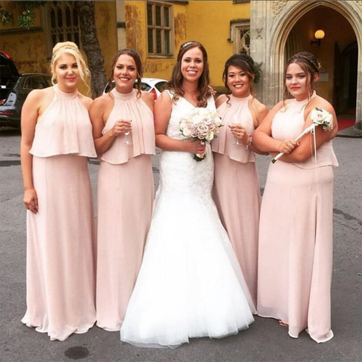 17 Best Ideas About Peach Bridesmaid Gowns On Pinterest