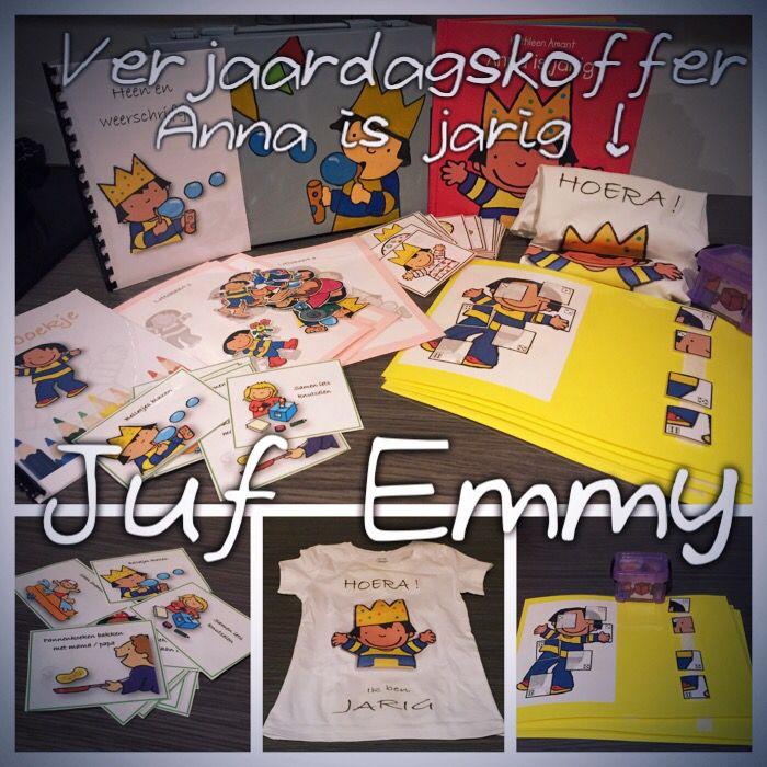 Juf Emmy! Verjaardagskoffer met inhoud; Anna is jarig