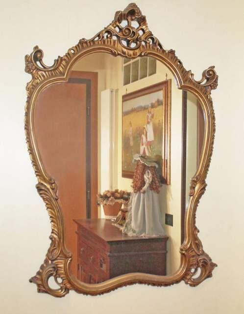 Oltre 25 fantastiche idee su specchio con cornice in legno - Specchio dorato antico ...