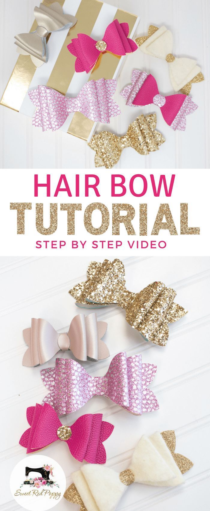 stacked french hair bow tutorial