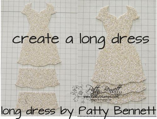 Lots of ways to alter dresses made with Stampin' Up! Dress Up Framelit