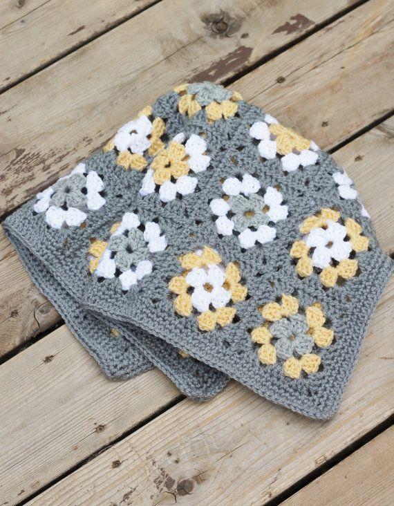 Boho Rainbow Crochet Blanket