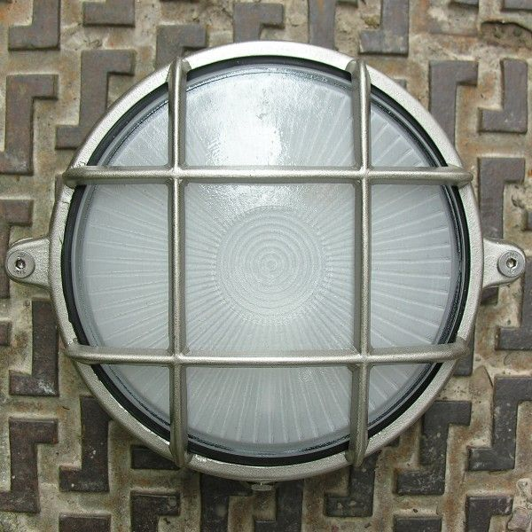 bulkhead light, round nickel, Bulkhead, Bulkhead lights, Brass bulkhead, IP54, factory light, marine light