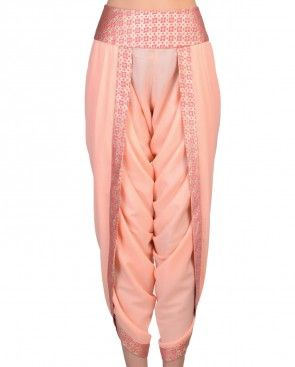 Peach Dhoti Pants