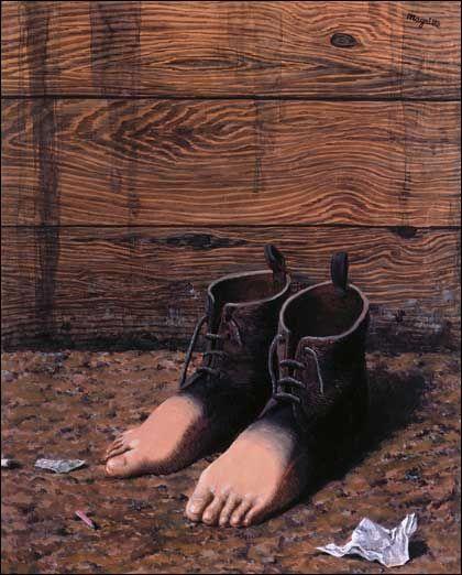 Magritte, Le Modèle Rouge, 1947 | Magritte, Peintures magritte, Surréalisme