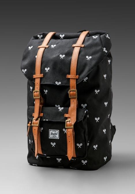 HERSCHEL SUPPLY CO. Invitational Collection Little America Cordura Backpack in Black/White Embroidery - Herschel Supply Co.