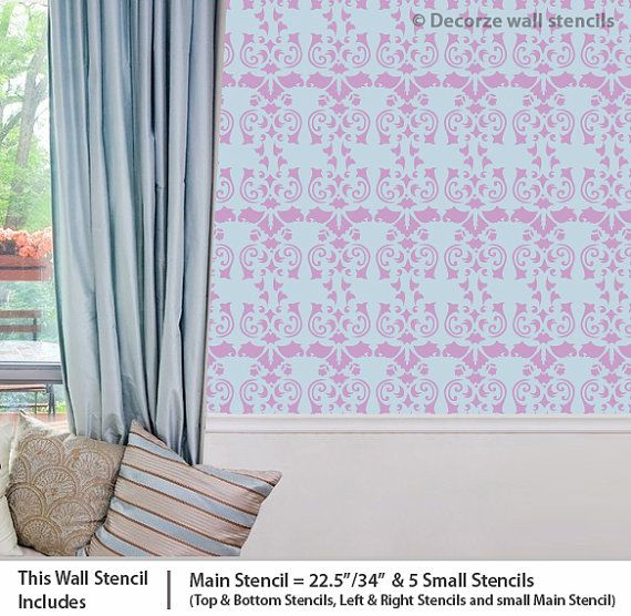 Wall stencil design for wall reusable wall stencils