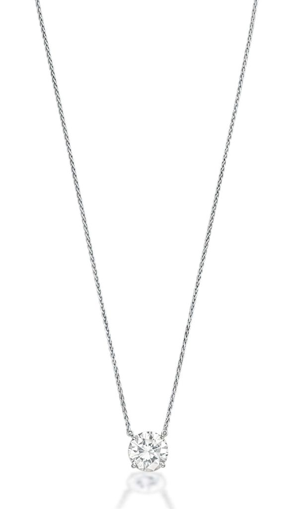 A diamond pendant necklace #christiesjewels