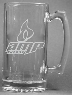 Personalized Mountain Dew Amp Energy Drink Etched Engraved Glass Beer
