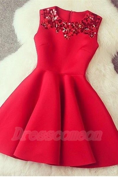 2016 Sparkly Short Red Homecoming Dresses,Simple Cheap Homecoming Dress,Modest Cocktail Dresses,Pretty Graduation Dresses http://www.luulla.com/product/587862/2016-sparkly-short-red-homecoming-dresses-simple-cheap-homecoming-dress-modest-cocktail-dresses-pret