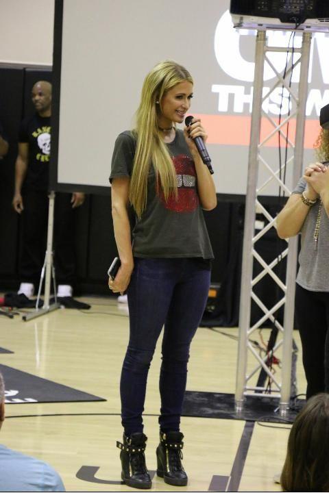 Paris Hilton At Equinox Los Angeles April 12, 2017