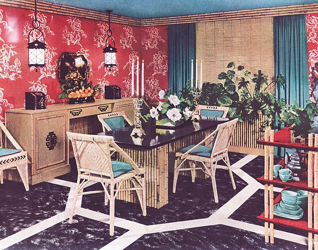 1950s Asian Dining Room