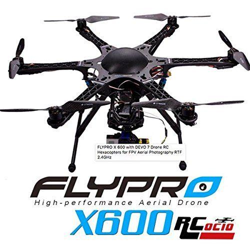 FLYPRO X600 con DEVO7 Drone RC Hexacopter para fotografía aérea FPV RTF 2,4GHz - http://www.midronepro.com/producto/flypro-x600-con-devo7-drone-rc-hexacopter-para-fotografia-aerea-fpv-rtf-24ghz/