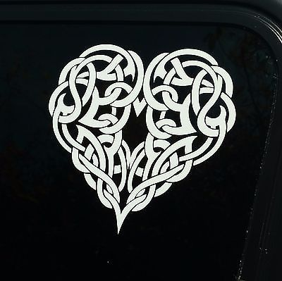 Celtic knotwork heart decal knot sticker die cut vinyl irishirelandlove