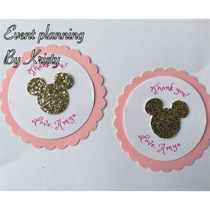 15 Pink  and Gold Minnie Mouse favor tags Decoration Party Supplies Shower  | eBay