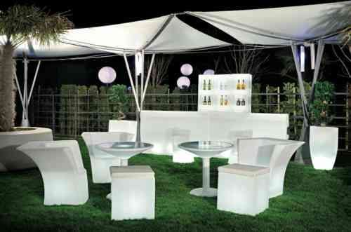 bar de jardin en mobilier lumineux