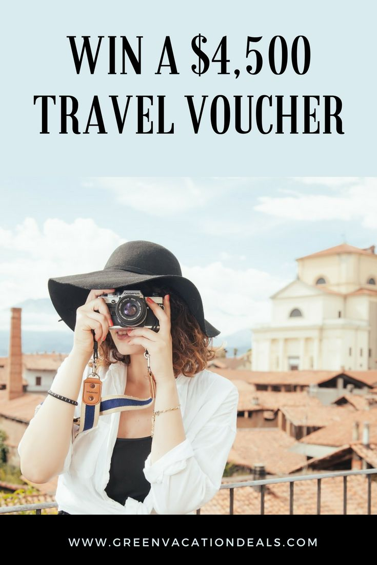 Win a $4500 travel voucher. Enter a vacation sweepstakes and win a $4500 travel voucher and a $500 gift card. Travel Giveaways | Ways to Travel for Free | Vacation Giveaways | Travel Sweepstakes #sweepstakes #giveaway #travel #giveaways