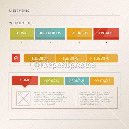 website design vector elements stock vector on depositphotos - Church Website Design Ideas