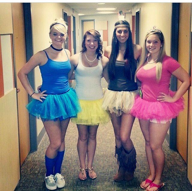 Disney Princess Halloween Costume Idea Cinderella, Belle - princess halloween costume ideas