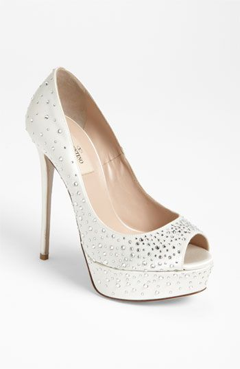 Valentino 'Bridal' Open Toe Pump available at #Nordstrom #wedding #nordstromwedding