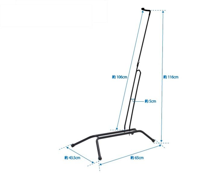 Vertical bike stand over indoor and outdoor combined