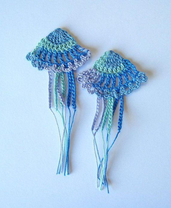 Crochet Jellyfish Applique