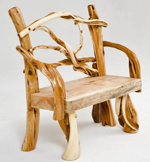 Log Furniture | Rustic Log Bench, Cabin Bench, Lodge Furniture, Exotic Wood