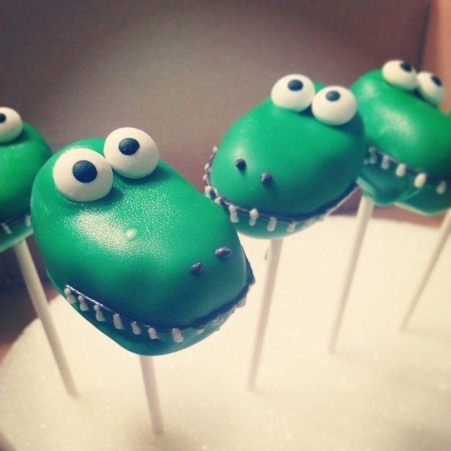 Alligator Cake Pops Cake Balls By Me Pinterest Cake
