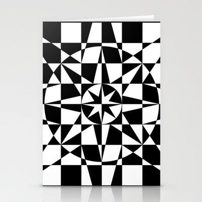 Black & White Star Stationery Cards by V. Kharuzhy
