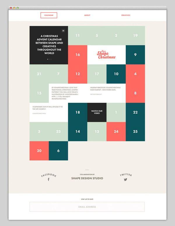 Web / Its Shape Christmas (Stunning Calendar Design) — Designspiration