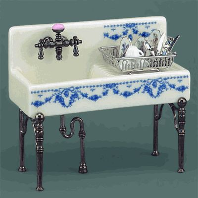 I have ALWAYS wanted one of these sinks!! Not with the blue stuff though - and not miniature size.
