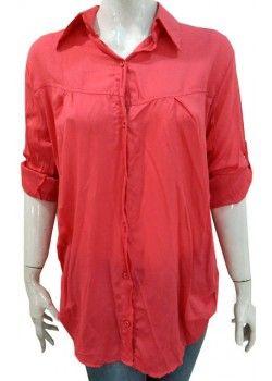 Toptan Ucuz Geniş Beden Gömlek (EKA-001-6) 8,80 Lira.  Bu gömleğin Diğer renklerini ve diğer toptan bayan giyim ürünlerimizi görmek için www.trikocum.com web sayfamızı ziyaret ediniz.
