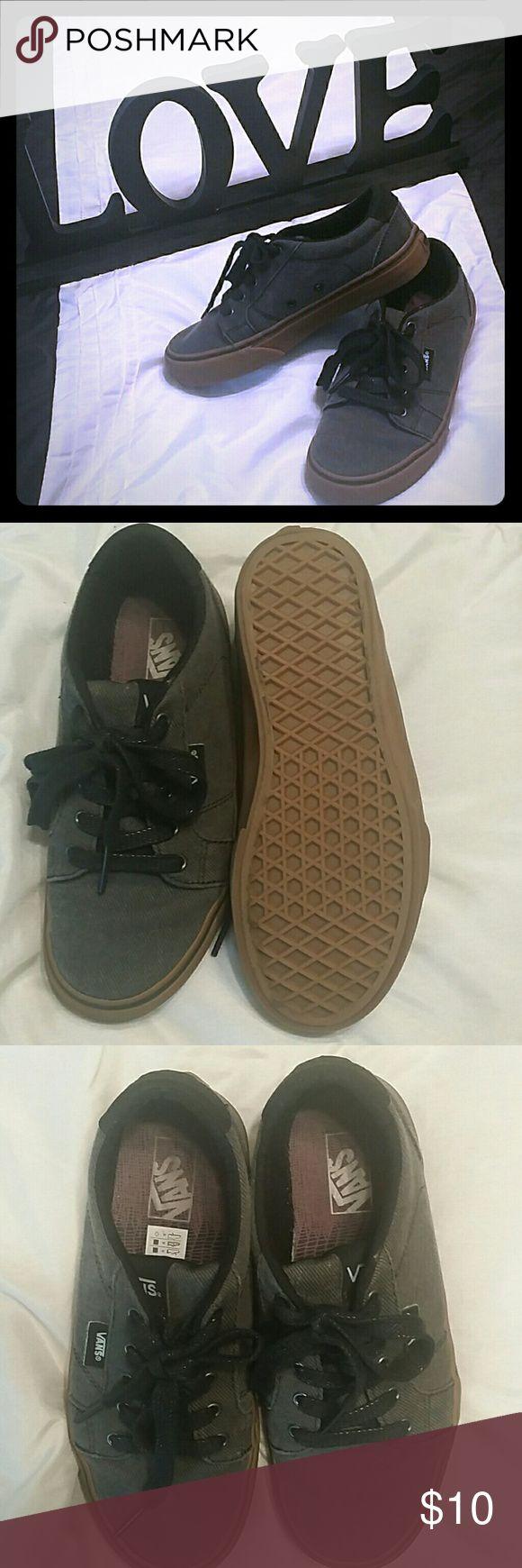 Boys Vans Grey with a bubble gum sole Vans Shoes Sneakers