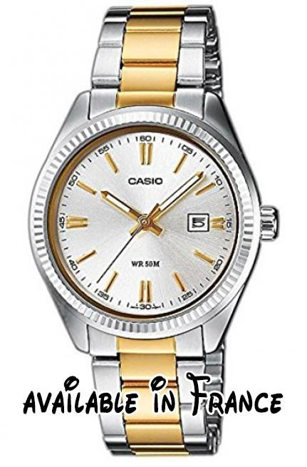 70483fbc80ecdb B00JVL4EBK   Casio Montre Femme Analogique Quartz avec Bracelet en Acier  Inoxydable LTP-1302PSG-