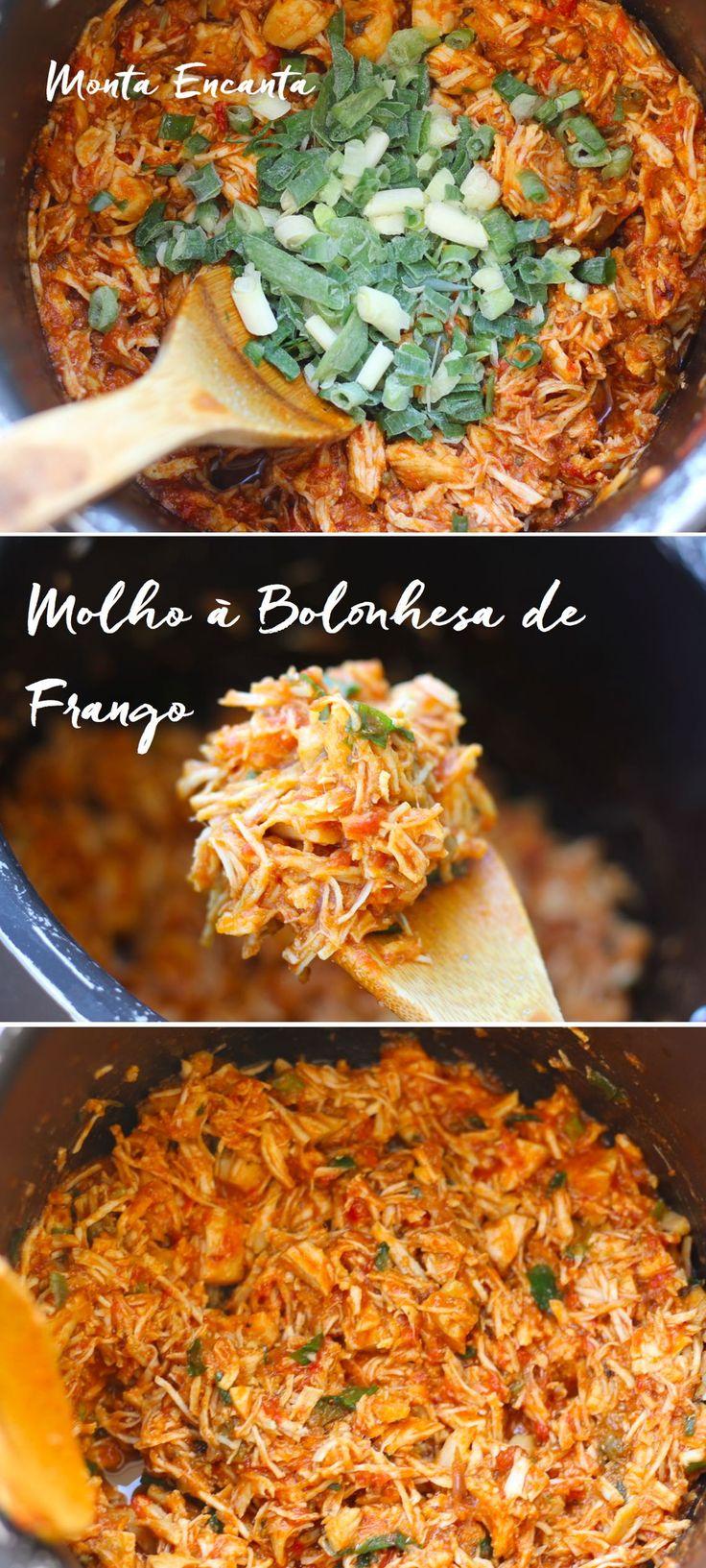 Molho a bolonhesa de Frango, feito na panela de pressão fica ainda mais gostoso! A idéia é substituir a tradicional carne moída pelo frango que cozido junto com os tomates …