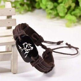 Pit Bull Leather Bracelet