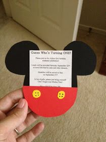 Mommy's Obsessions: DIY: Mickey Mouse Invitations