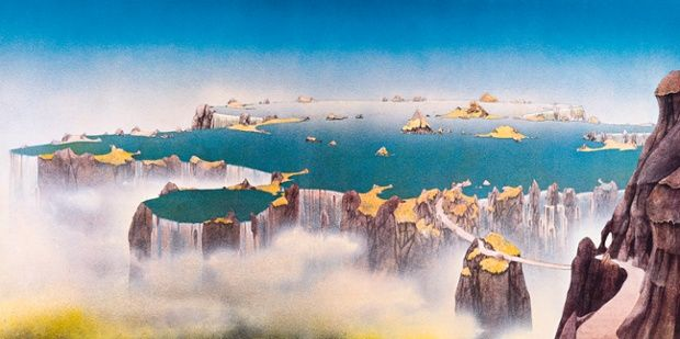 band: Yes                       album title: Close to the Edge    Date:     1972. Roger Dean