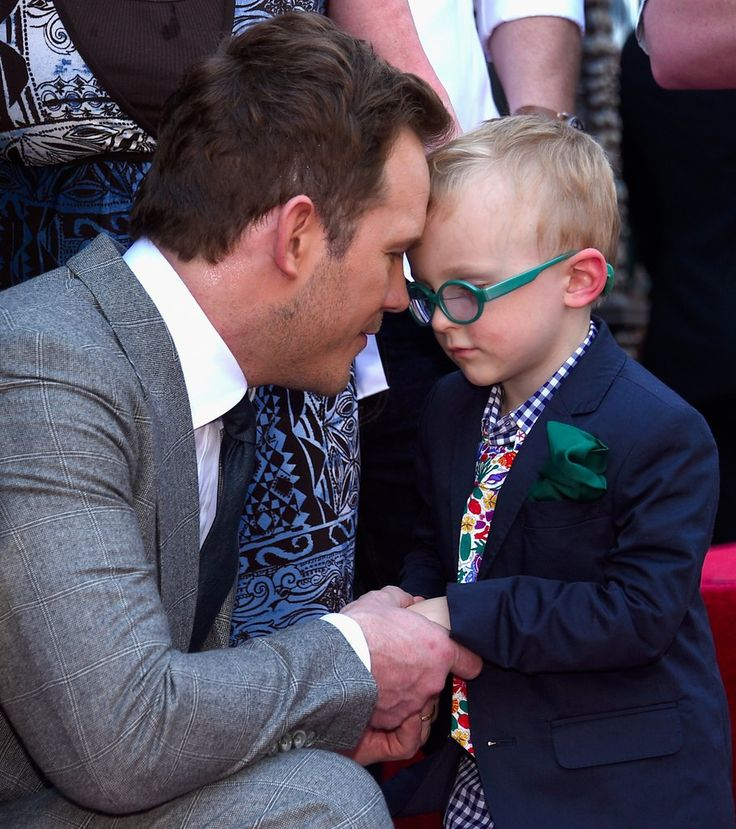 """ Chris Pratt and Jack Pratt at Chris Pratt Honored With Star On The Hollywood Walk Of Fame on April 21, 2017 in Hollywood, California. """