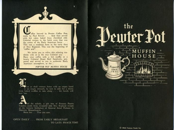 Vintage Pewter Pot Muffin House Menu I Remember The Pewter