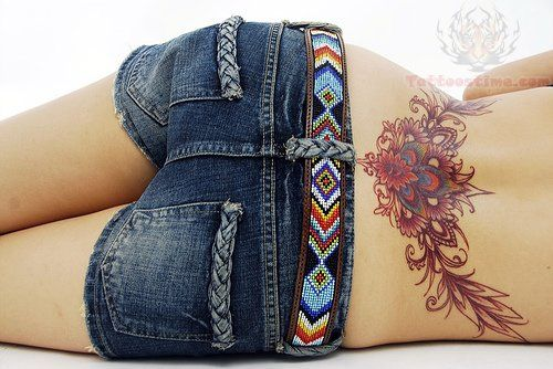 peacock feather tattoo on lower back – Google Search