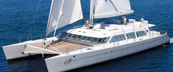 Buy Richard Branson's Necker Belle 105-Foot Sailing Catamaran With Open-Air Cinema