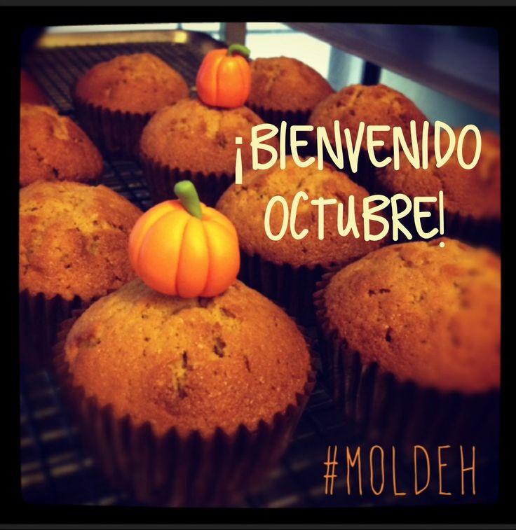 Cupcakes de calabaza para temporada de Octubre // Pumpkin Cupcakes for October