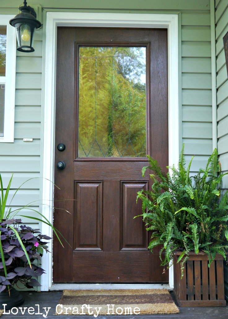 17 best images about front doors with glass on pinterest for Entry door with screen and glass