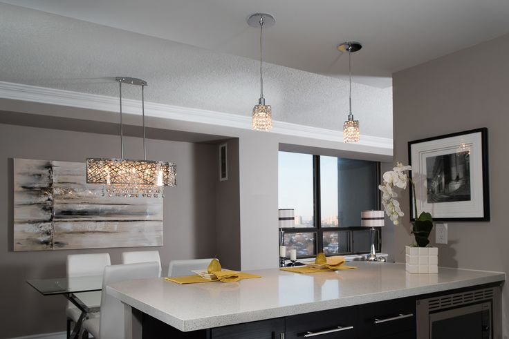 Yellow and Grey Contemporary Dining/Kitchen