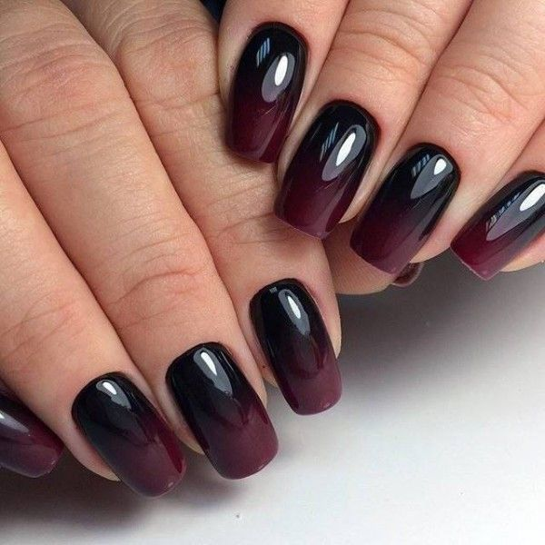 dark,plum,fall,ombre,nails in 2019